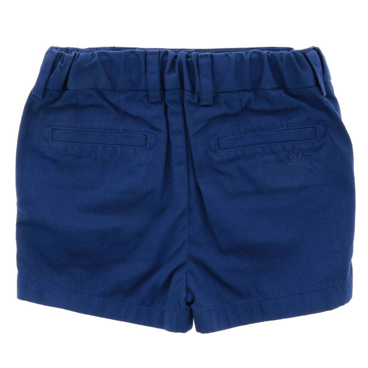 Cotton shorts with elastic waist Blue Burberry