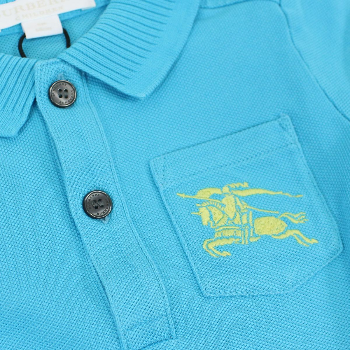 2 button cotton polo shirt Turquoise Burberry