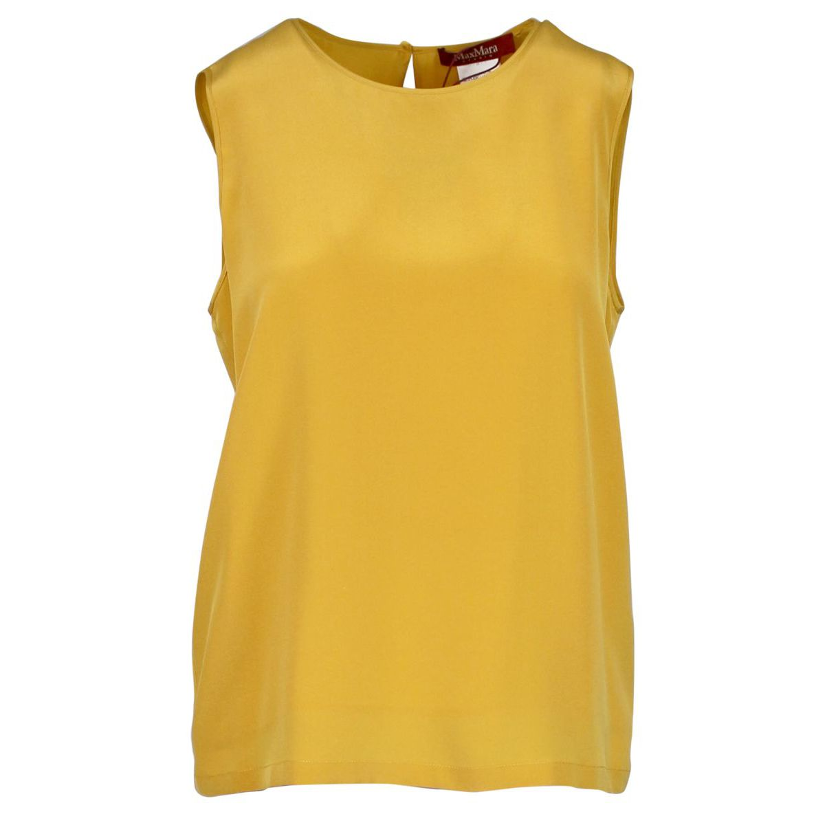 Sleeveless silk top Ocher MAX MARA