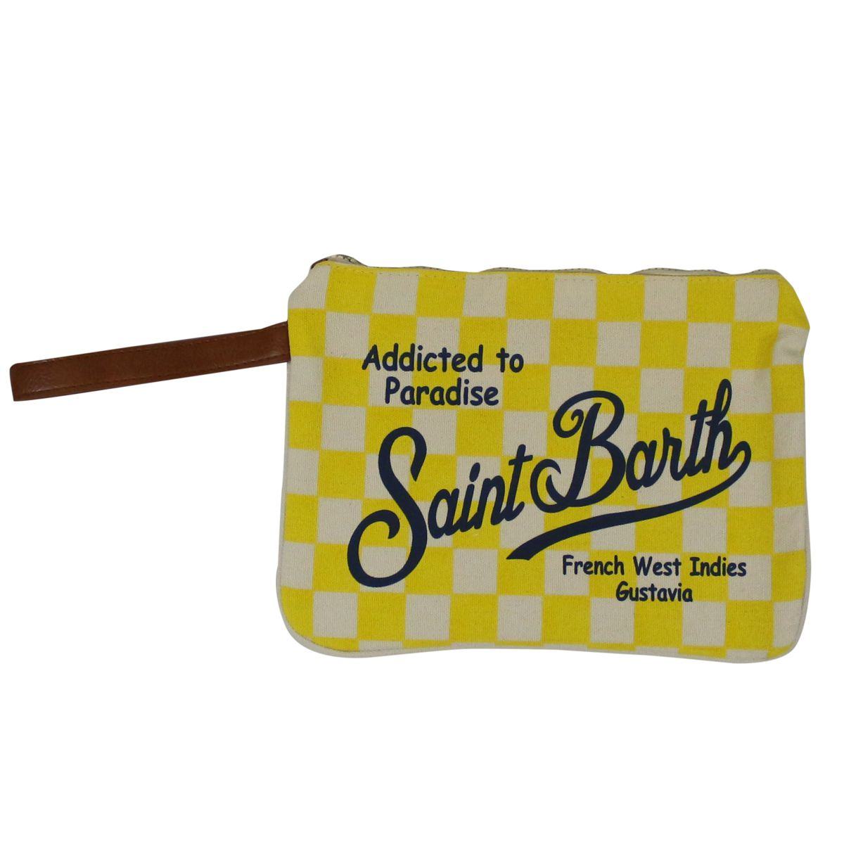 Parisienne canvas clutch bag Yellow MC2 SAINT BARTH