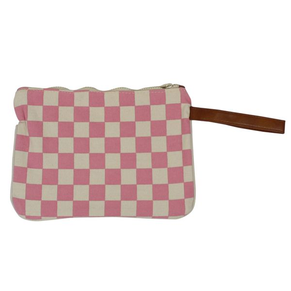 Parisienne canvas clutch bag Rose MC2 SAINT BARTH
