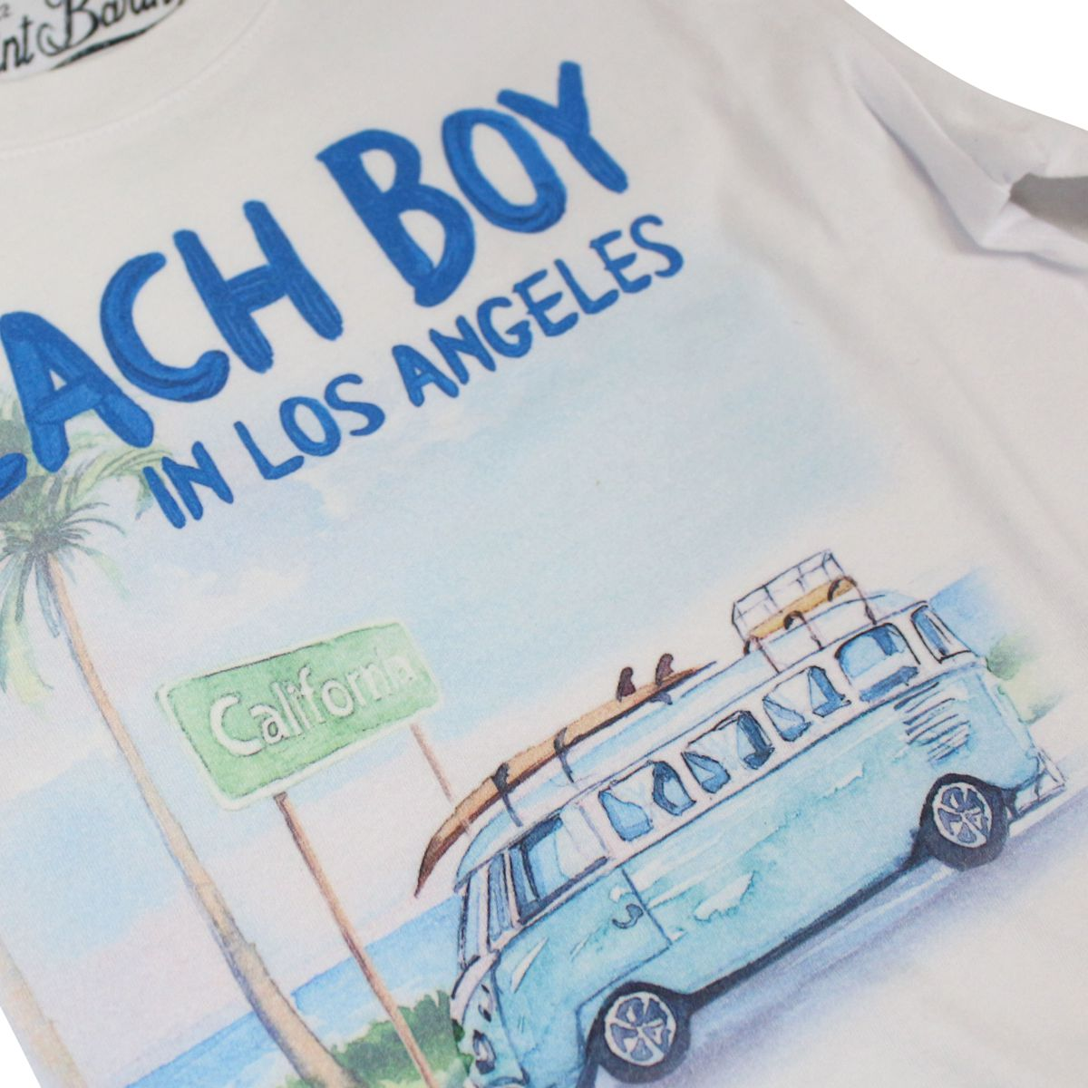 Beach Boy print T-shirt White MC2 Saint Barth