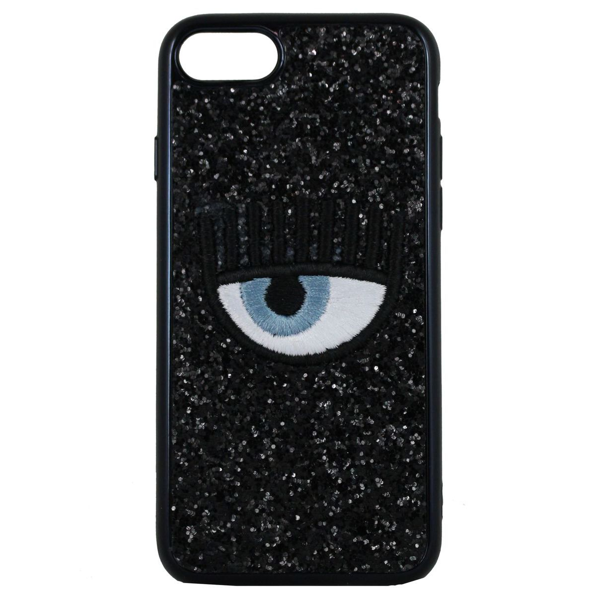 Cover logo Iphone 7/8 Nero CHIARA FERRAGNI