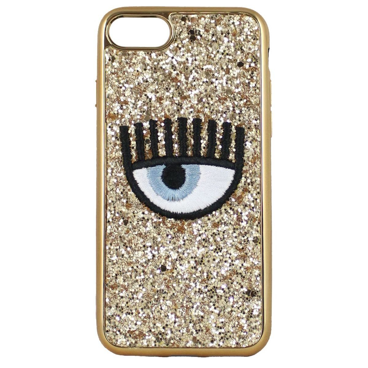 Cover logo Iphone 7/8 Oro CHIARA FERRAGNI