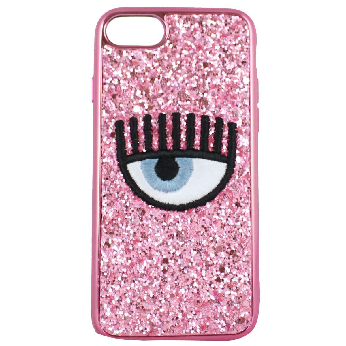 Cover logo Iphone 7/8 Rosa CHIARA FERRAGNI