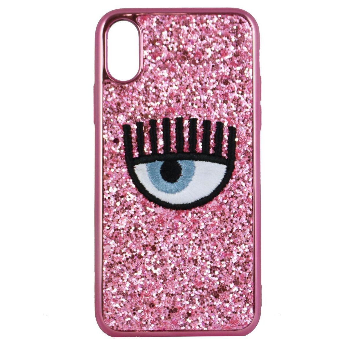 Cover logo Iphone X Rosa CHIARA FERRAGNI