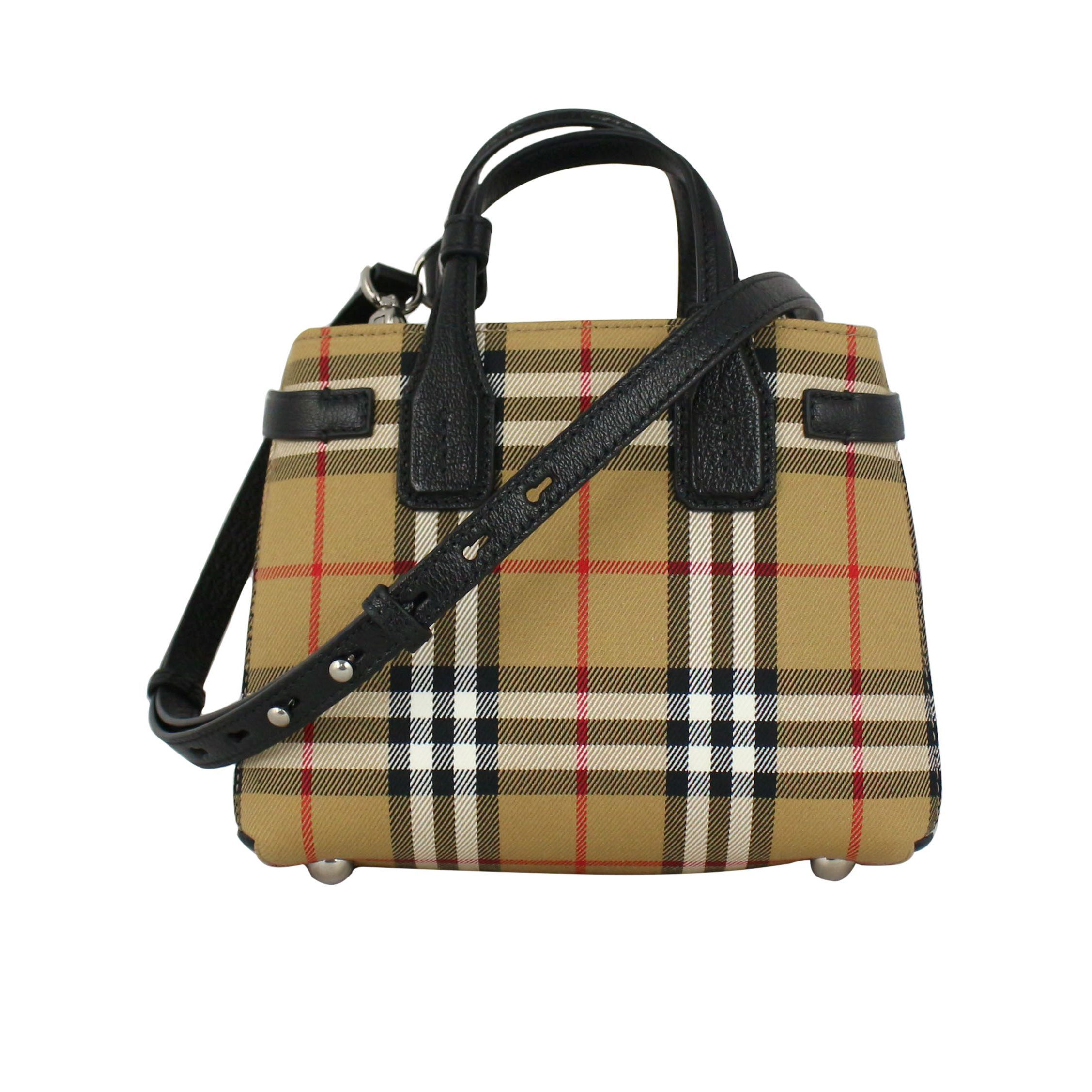 6ac7787b2fd1 Baby Banner bag in canvas Check / black, Burberry 4079964 ...