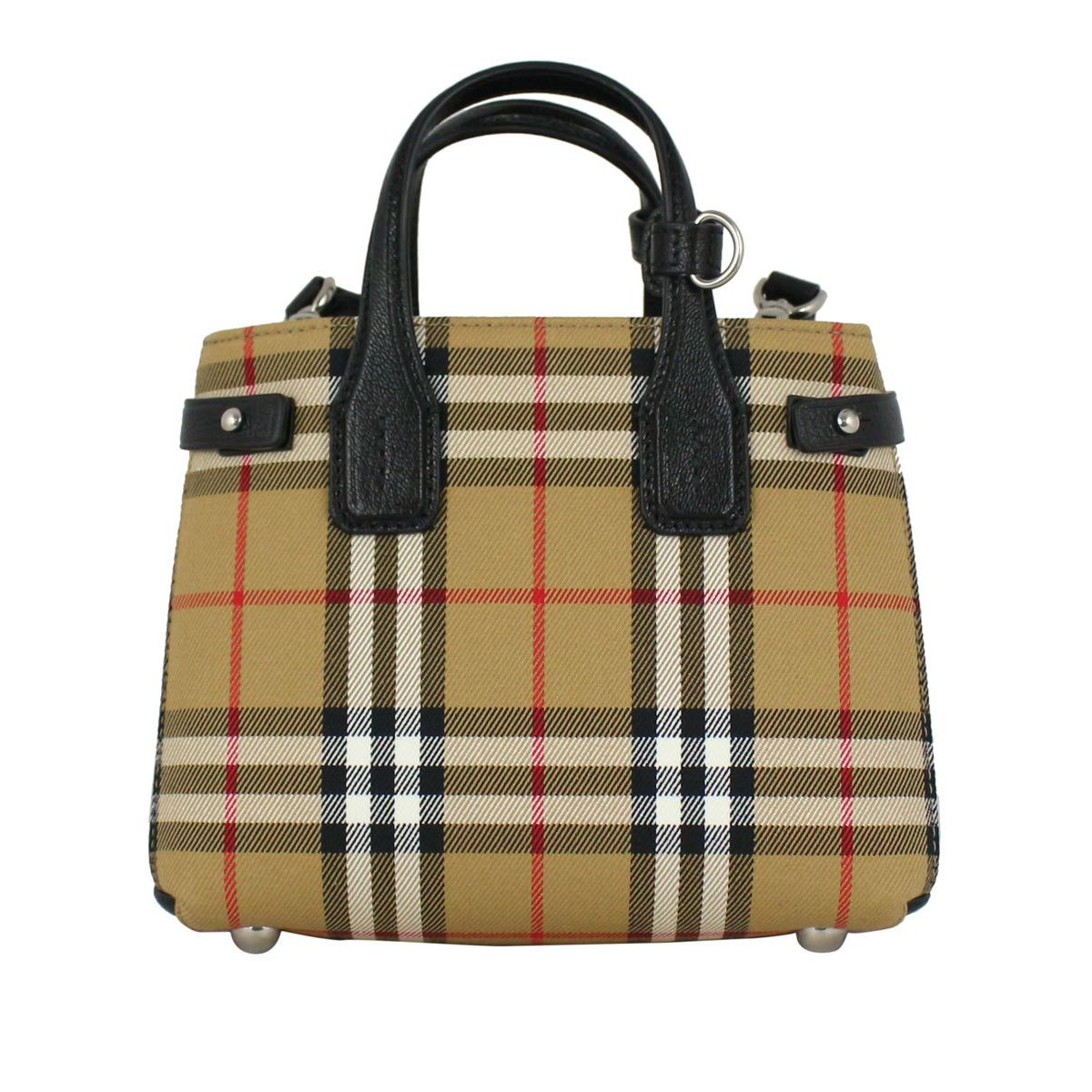 Baby Banner bag in canvas Check / black Burberry