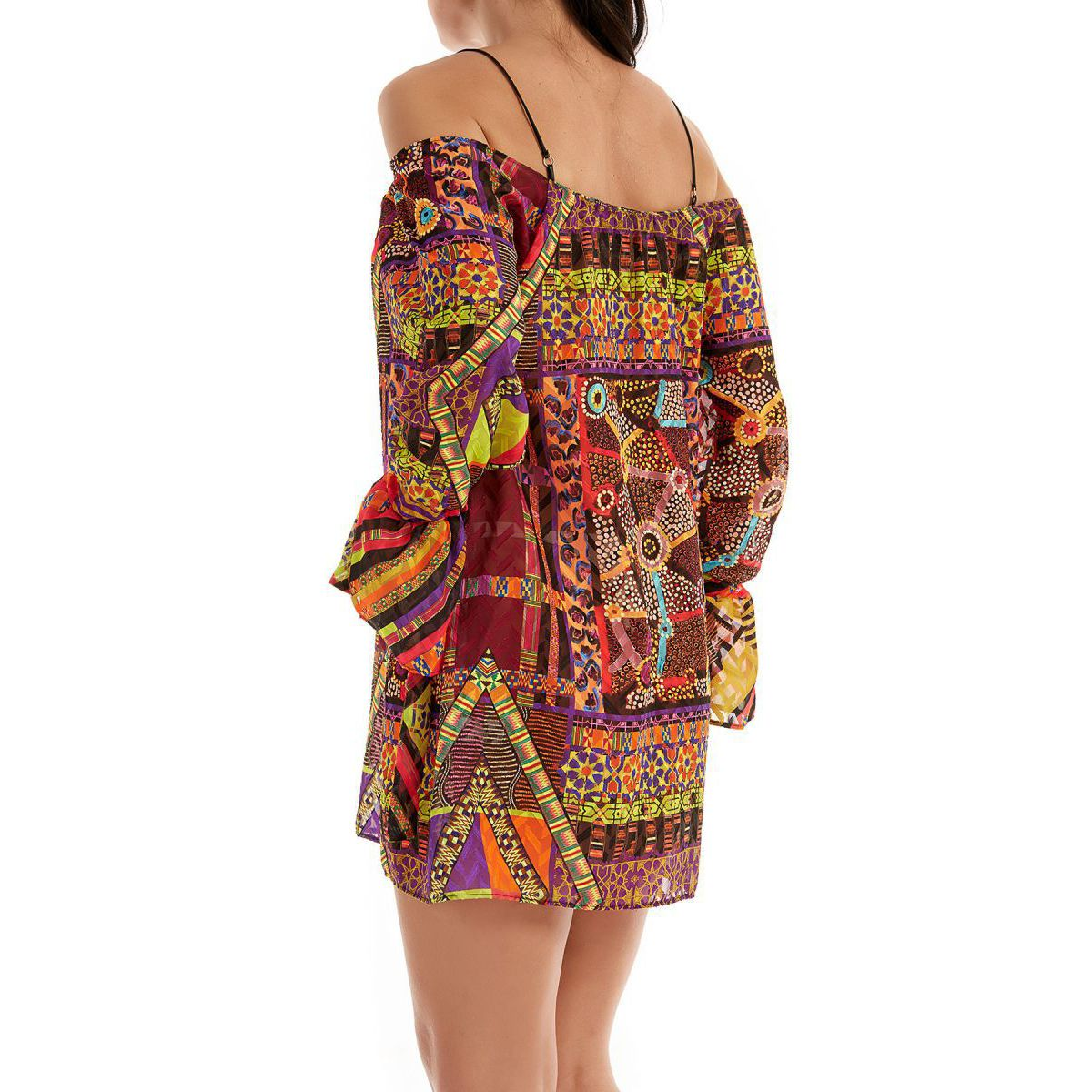 Papunya short dress Multicolor F**K