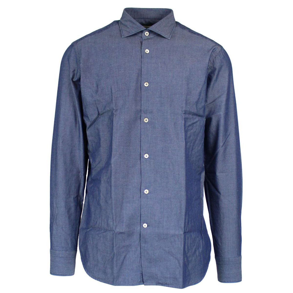 Shirt with French collar Medium denim Guglilminotti