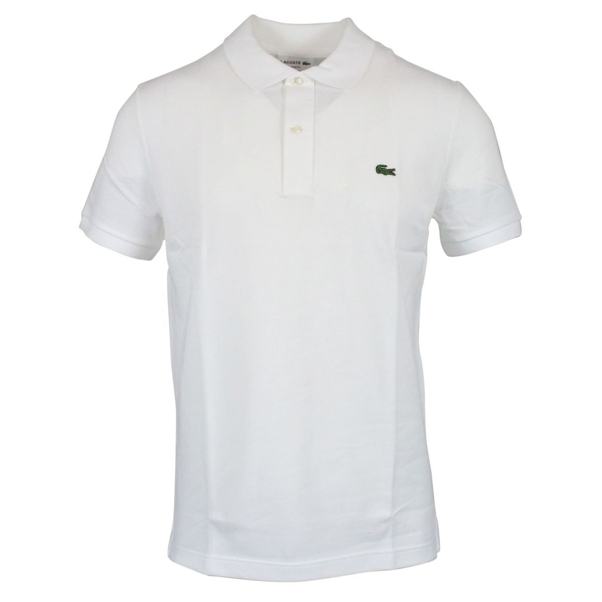 2-button polo shirt in slim cotton White Lacoste