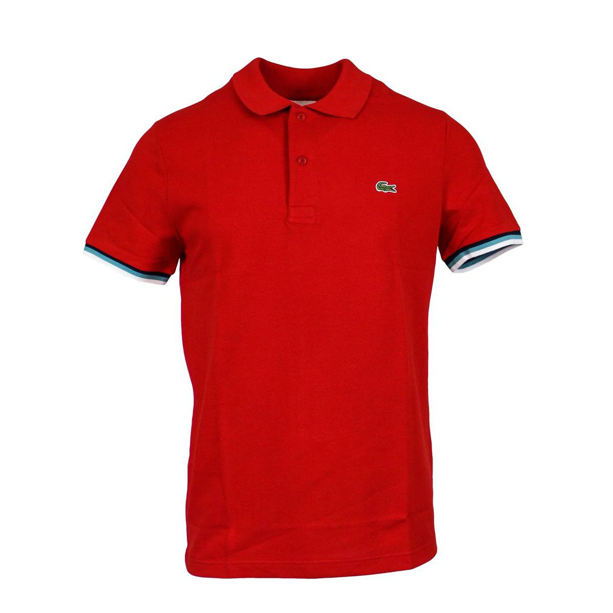 Slim Polo 100% cotton borders Red Lacoste