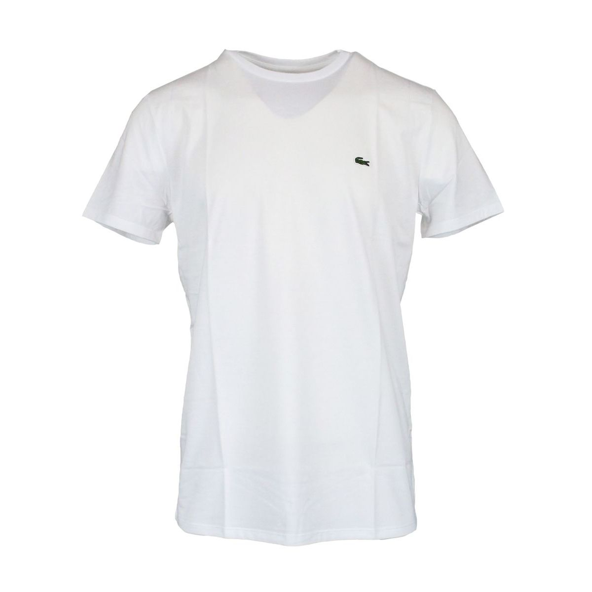 Crew-neck t-shirt with logo embroidery White Lacoste