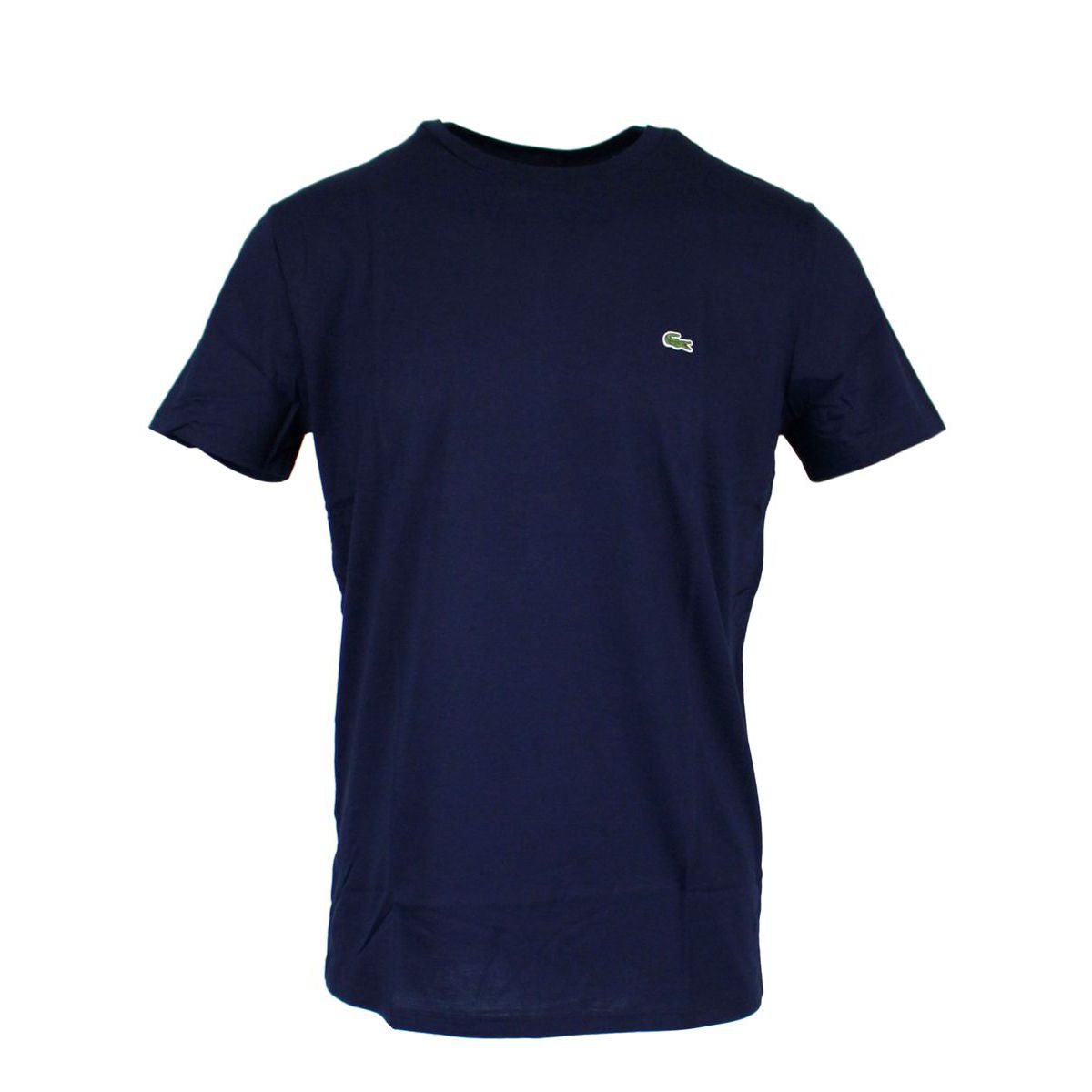 Crew-neck t-shirt with logo embroidery Navy Lacoste