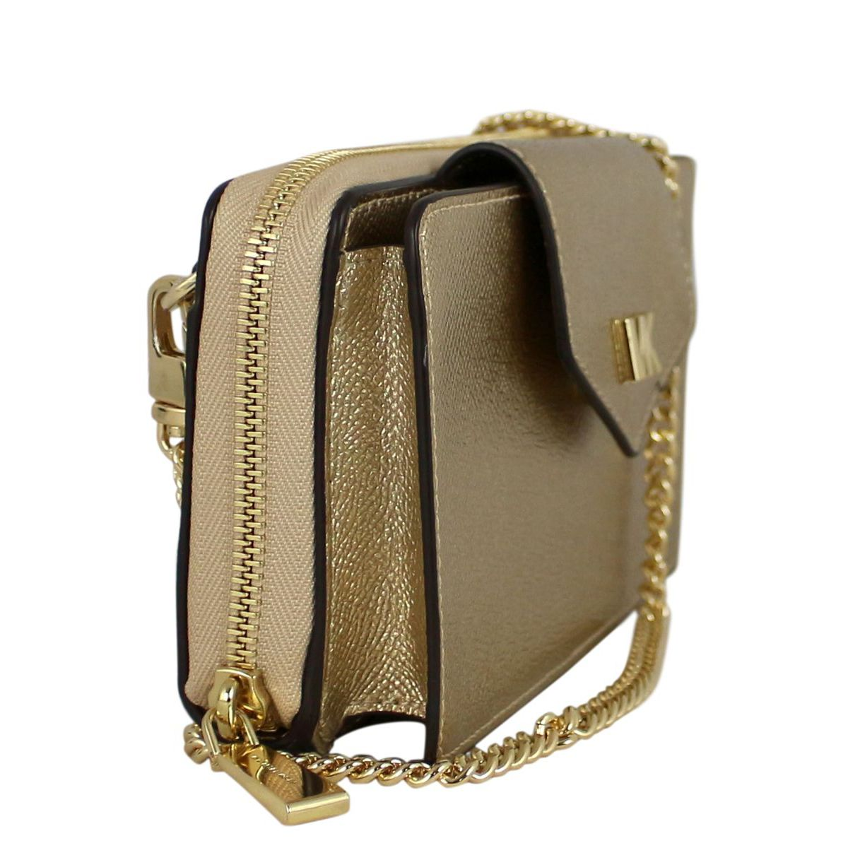 Tote bag in laminated leather Gold Michael Kors