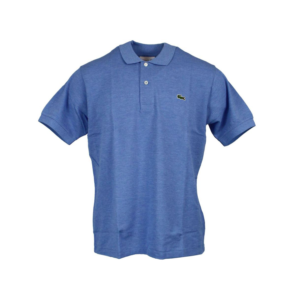 Cotton polo shirt with logo embroidery Light blue Lacoste