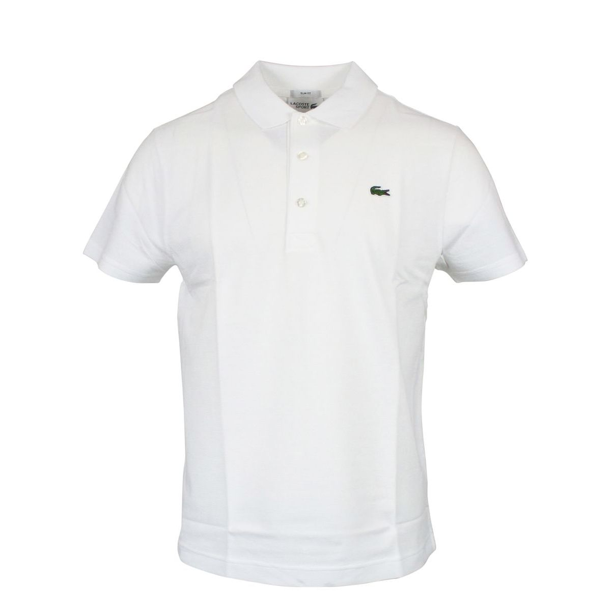 3-button sports slim fit polo shirt White Lacoste