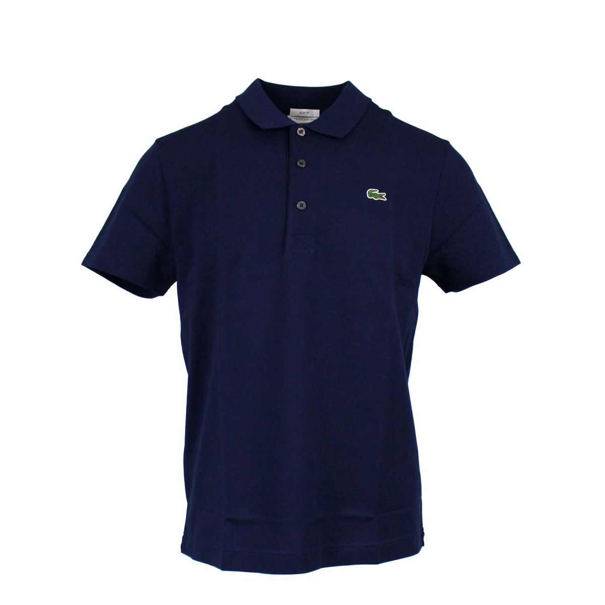 3-button sports slim fit polo shirt Navy Lacoste