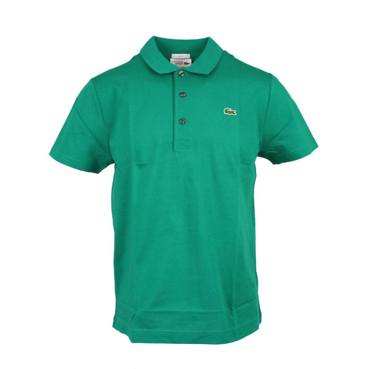 3-button sports slim fit polo shirt Green Lacoste