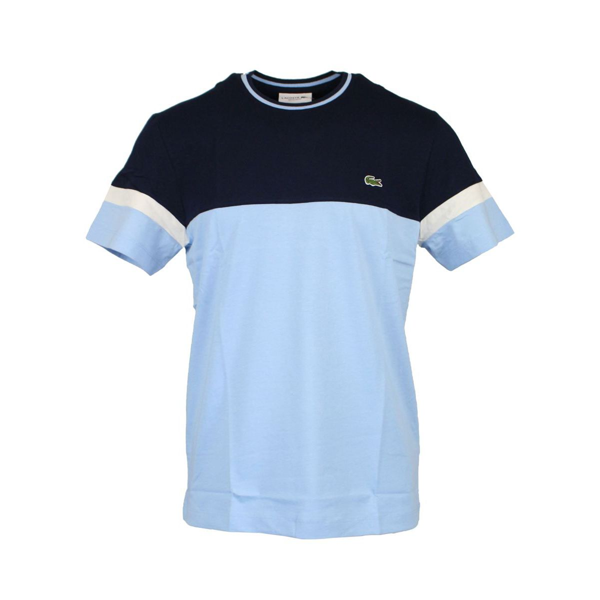 T-shirt in two-tone cotton Light blue Lacoste