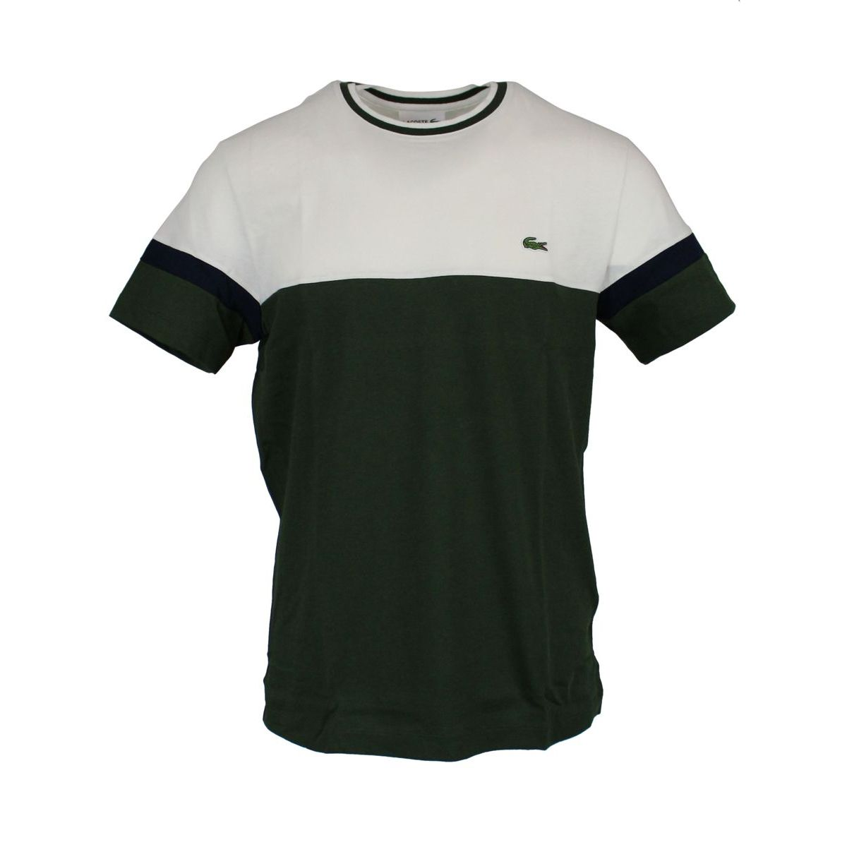 T-shirt in two-tone cotton Butter Lacoste