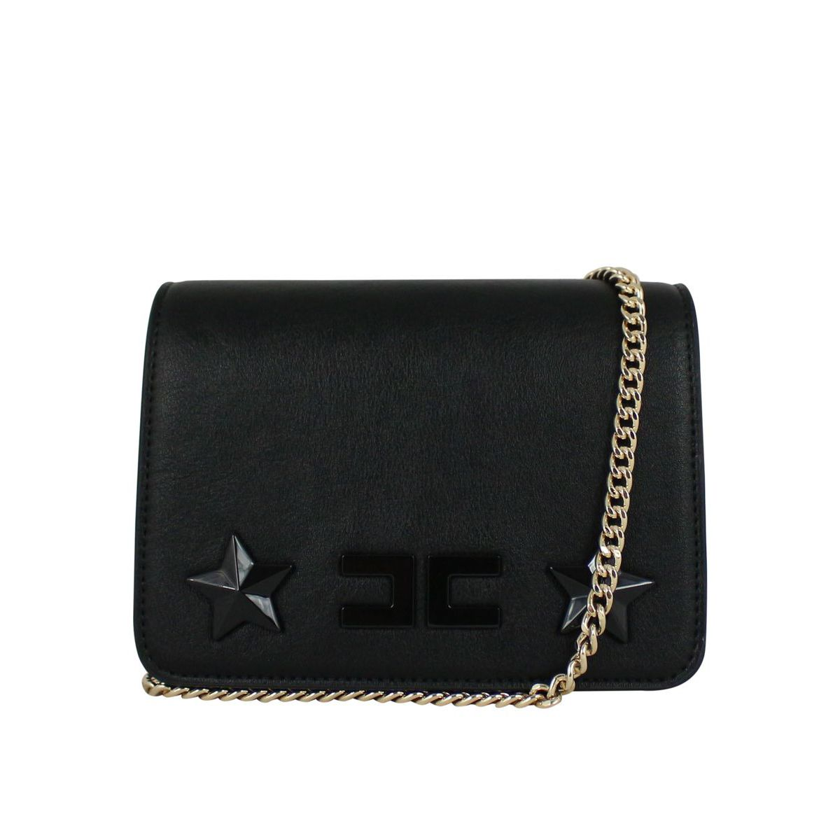 Bag with logo and inserts Black Elisabetta Franchi