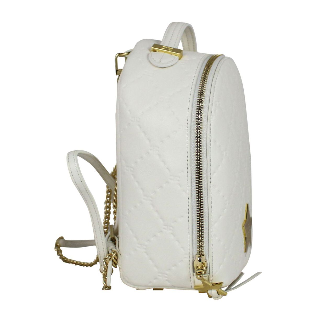 Backpack with metal star White Elisabetta Franchi
