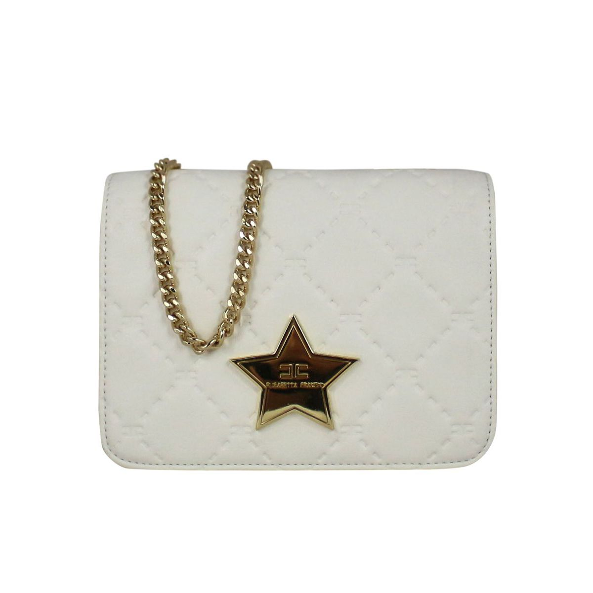 Bag with metal star White Elisabetta Franchi