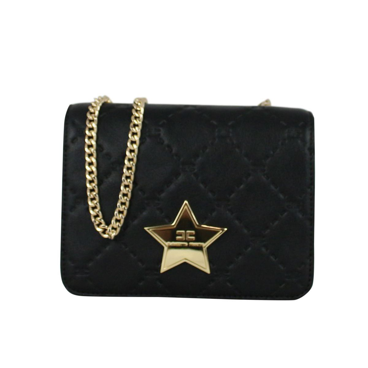 Bag with metal star Black Elisabetta Franchi