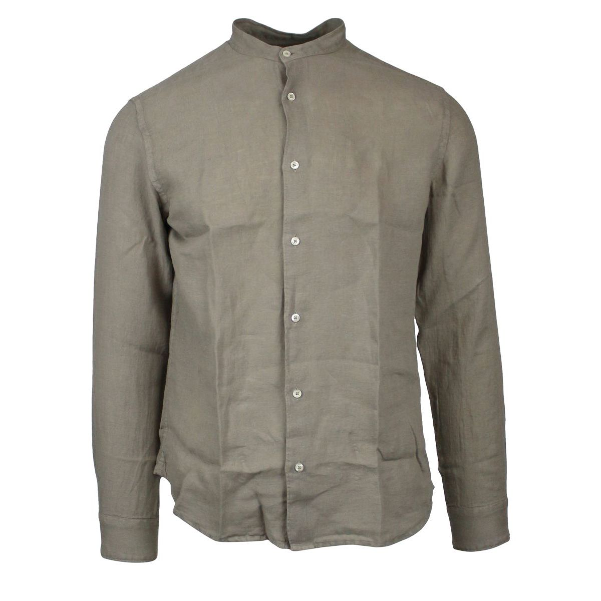 Slim linen shirt with mandarin collar Rope ALTEA