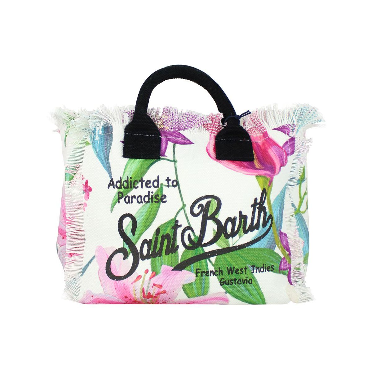 Colette bag in canvas with tropical print White MC2 SAINT BARTH