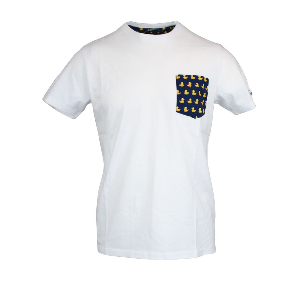 T-shirt with ducky pocket White MC2 SAINT BARTH
