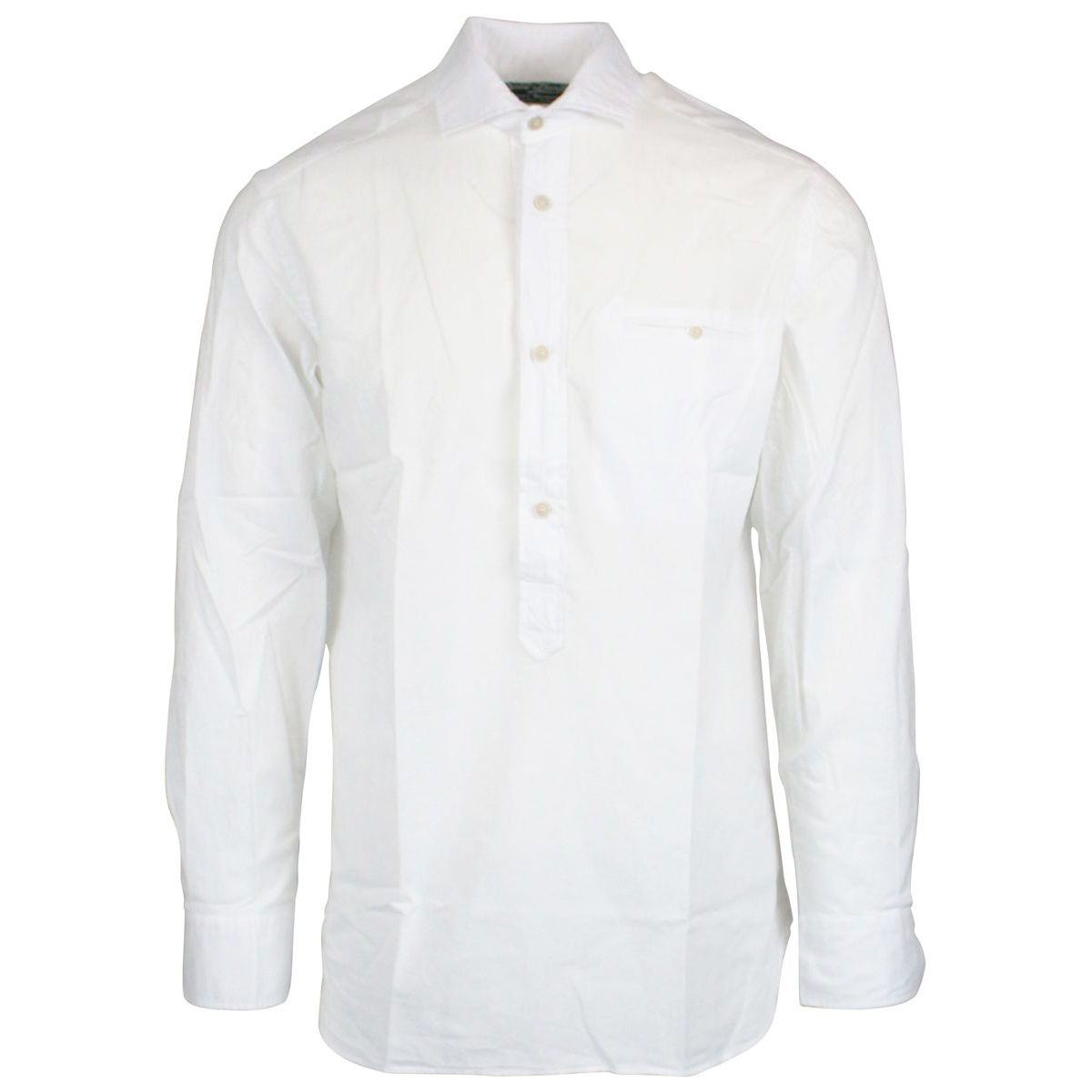 Shirt with French collar in linen White MC2 SAINT BARTH