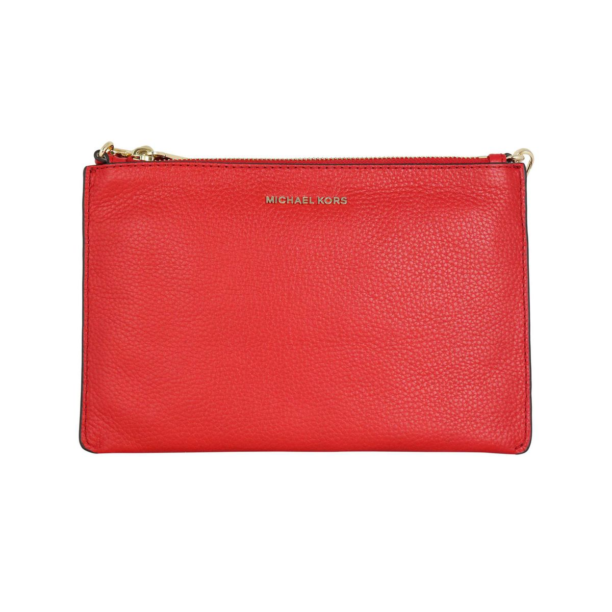 Large Crossbodies bag in textured leather Red Michael Kors