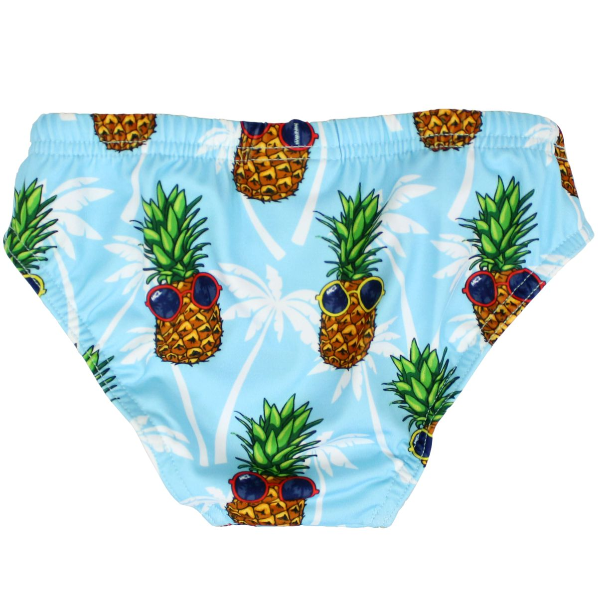 Billy costume with pineapple print Light blue MC2 Saint Barth