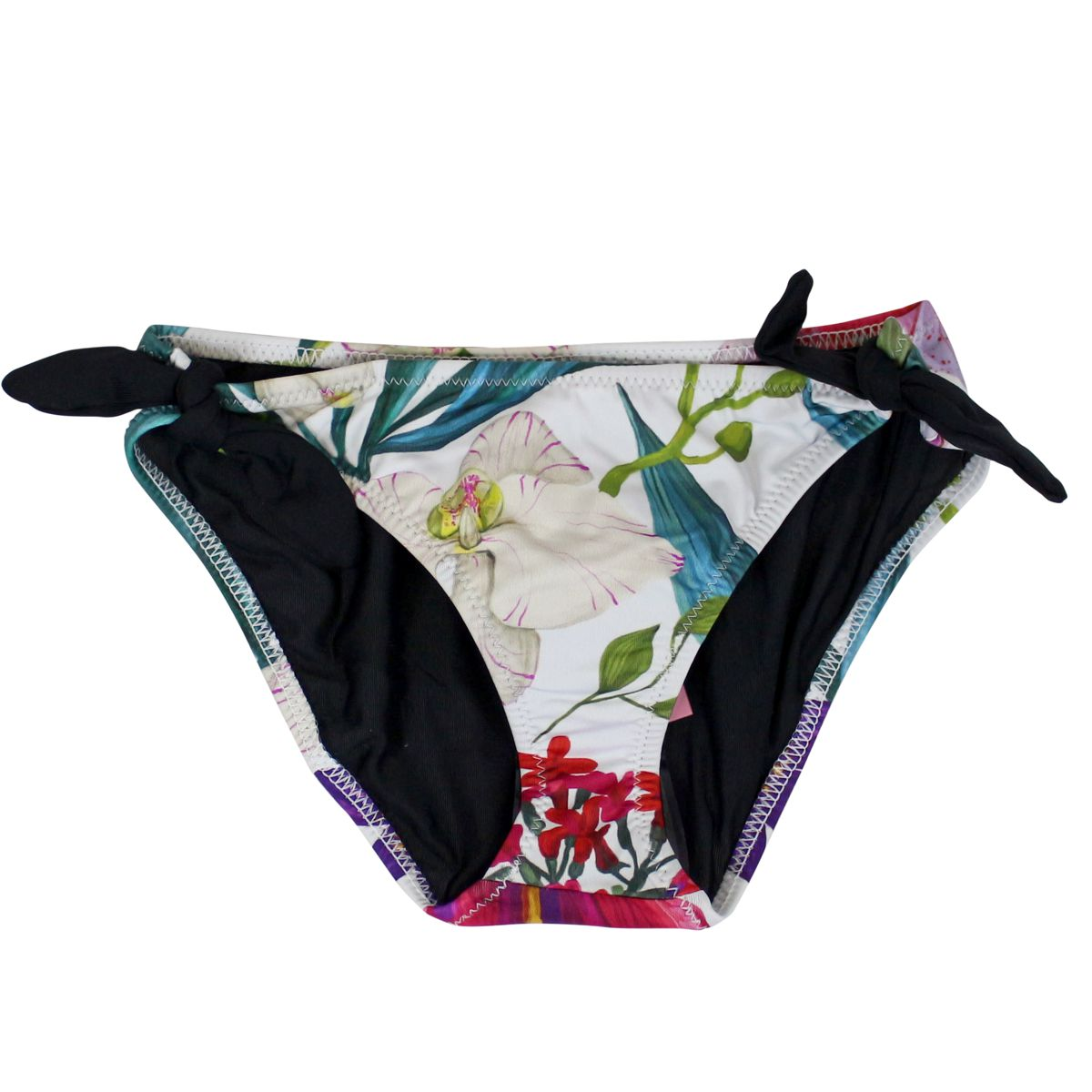 Lilly sea brief with tropical print White MC2 SAINT BARTH