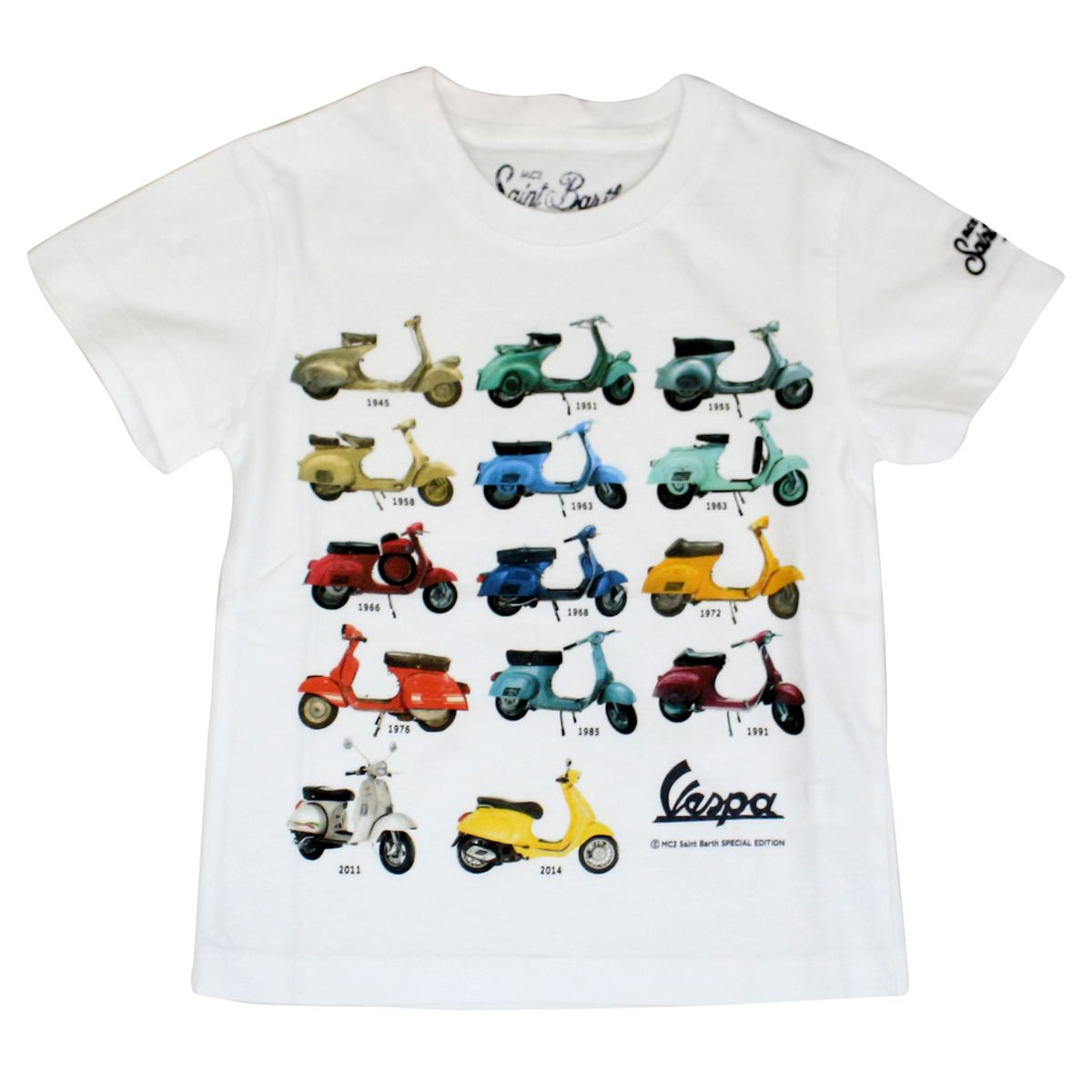 Vespa Story cotton T-shirt White MC2 Saint Barth