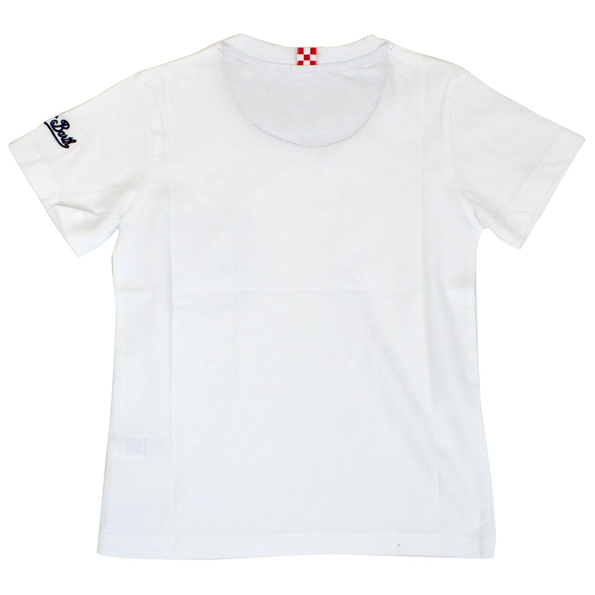 Cotton t-shirt with ducky pocket White MC2 Saint Barth