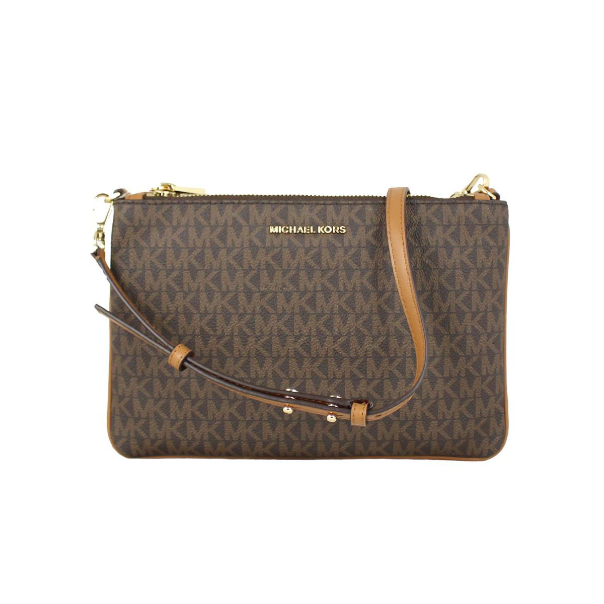 Large Adele shoulder bag Brown Michael Kors