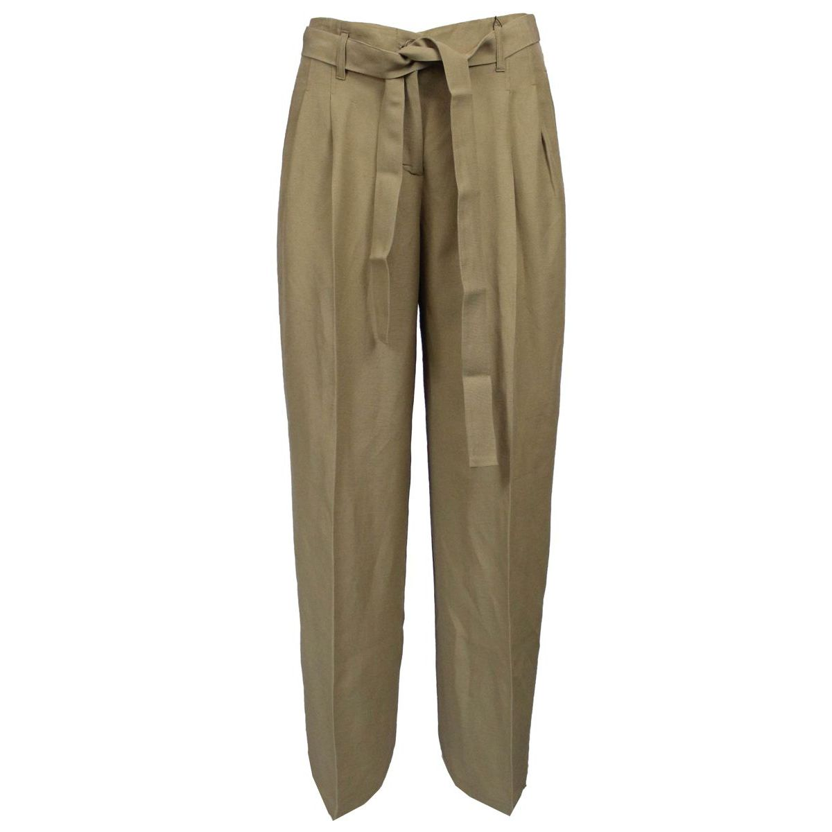 Trousers in mixed fabric Camel Twin-Set