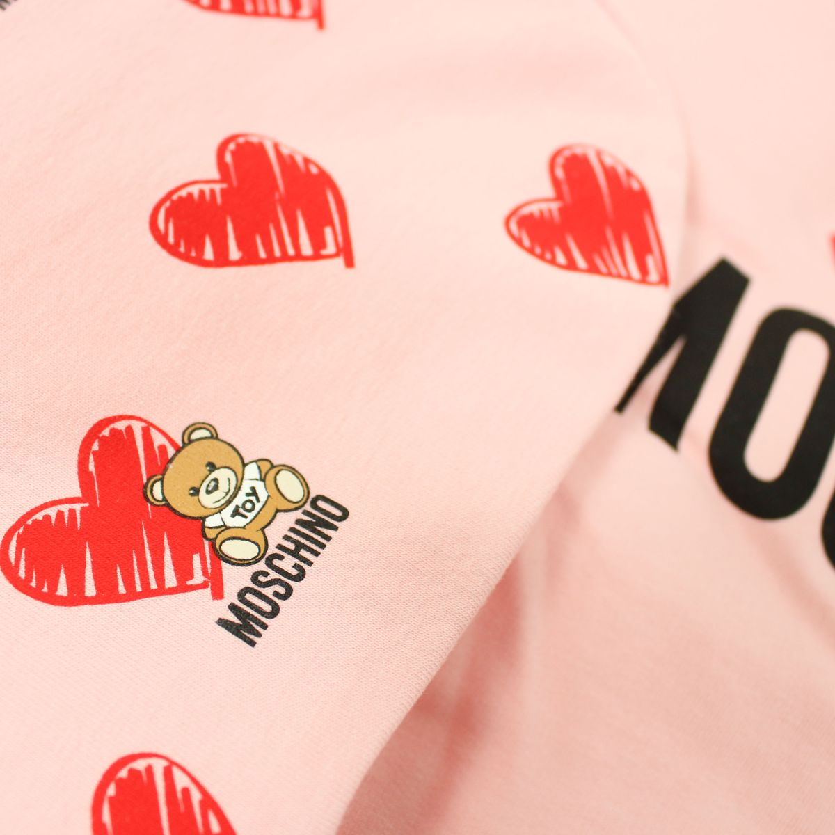Cover with Teddy Bear print Rose MOSCHINO