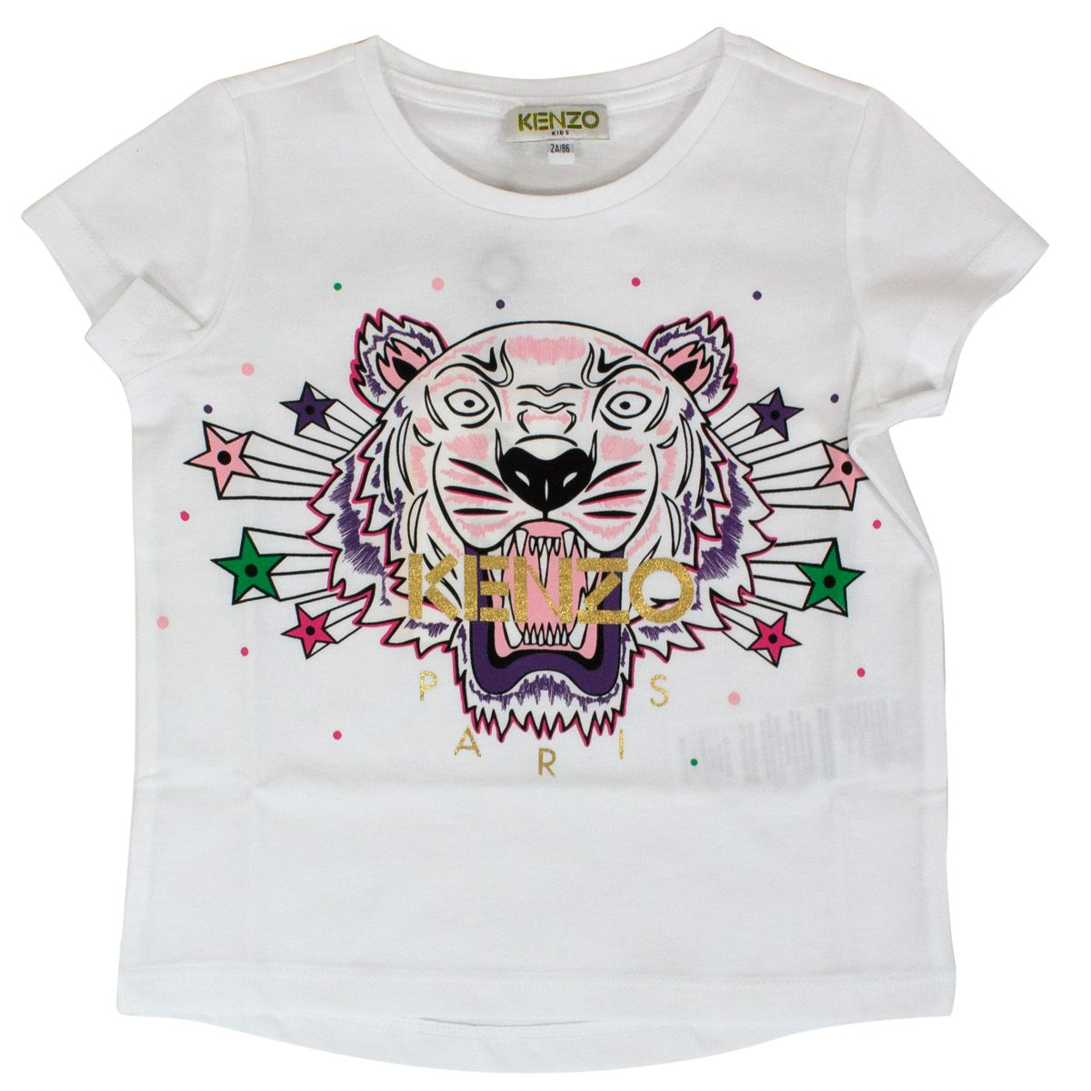 Tiger print t-shirt with stars Optical white Kenzo