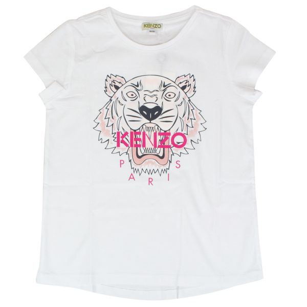 T-shirt with contrasting Tiger print Optical white Kenzo