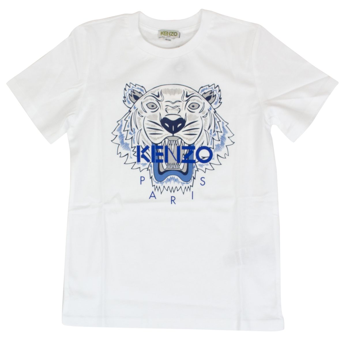 T-shirt with front Tiger print Optical white Kenzo