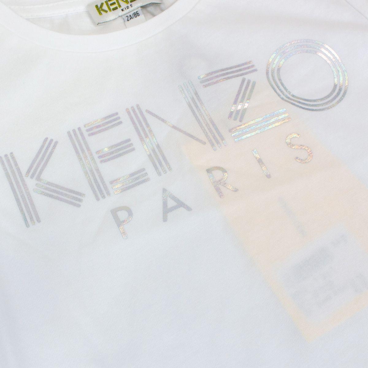 T-shirt with laminated logo print Optical white Kenzo