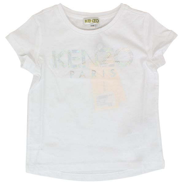 T-shirt with laminated logo print Optical white Kenzo