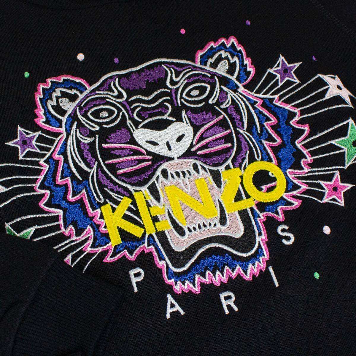Hooded sweatshirt with Tiger star print Black Kenzo