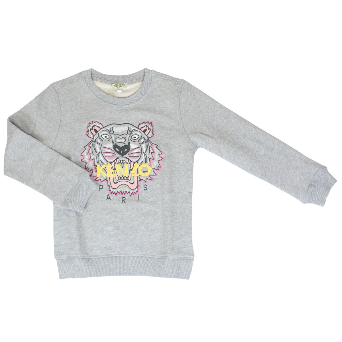 Sweatshirt with contrasting Tiger embroidery Grey Kenzo