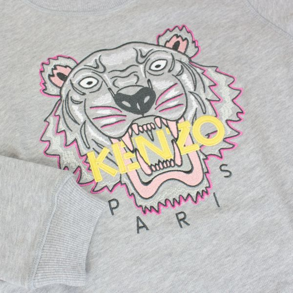 Sweatshirt with contrasting Tiger embroidery Grey Kenzo