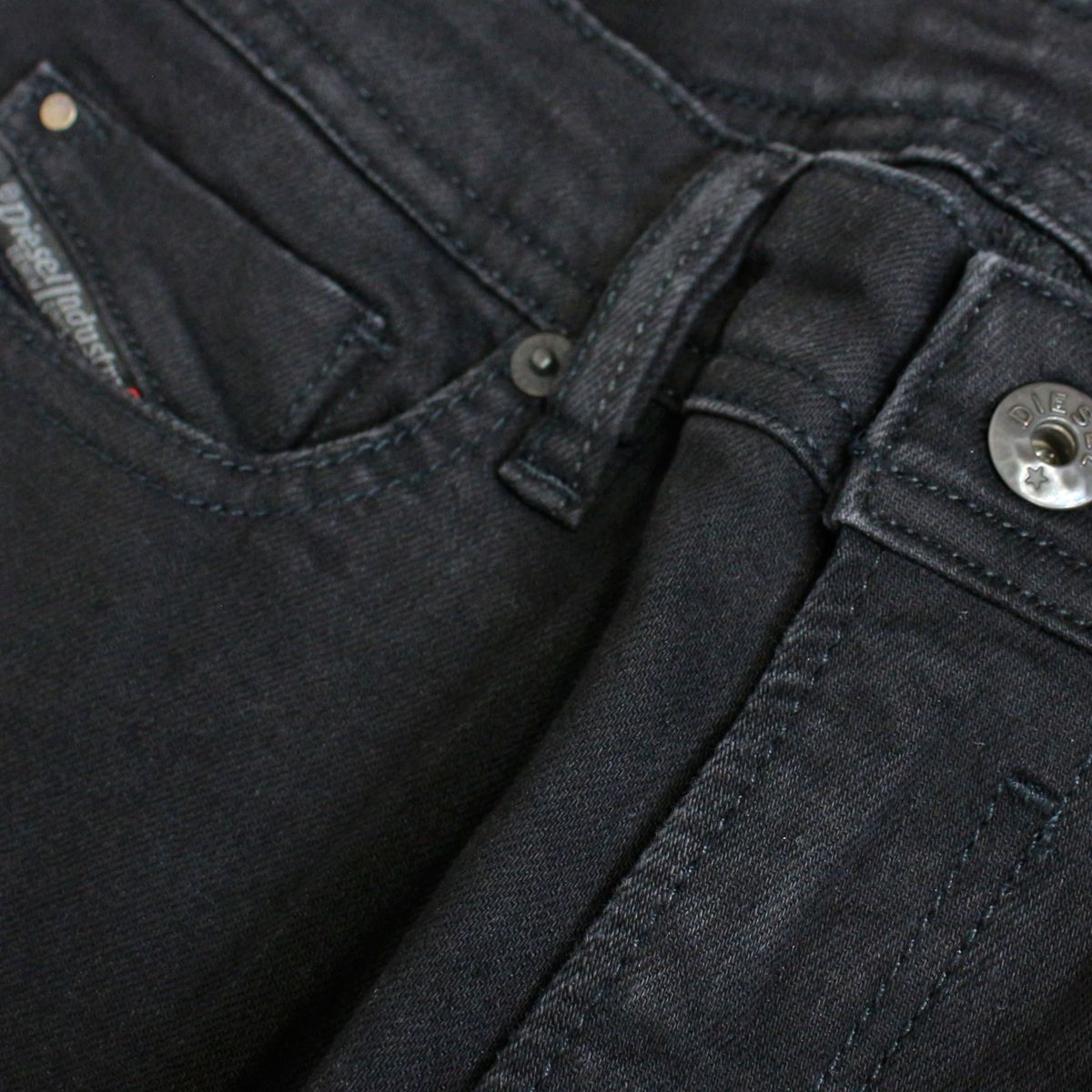 5-pocket stretch denim jeans Black denim Diesel